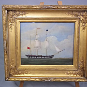 "William Clark (1804-1883) Oil on Board of the Barque ""Tay"""