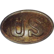 American Civil War Union Cartidge Box Plate