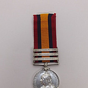 Boer War Queens South Africa Medal Pte. A. Danks E. Lancs Reg.