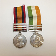 Boer War Queen & Kings South Africa Medal Pair Pte. T. Taylor KOSB