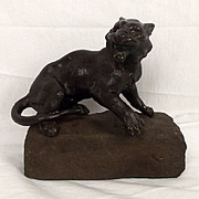Japanese School (Mejii Period) Bronze Fierce Tiger