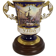 Limited Edition Hand Painted 50th Anniversary VJ Day Vase By Aynsley