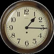1940's Bentima Round Wall Dial School Clock