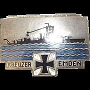 1920's German Cruiser Emden Enamel Badge