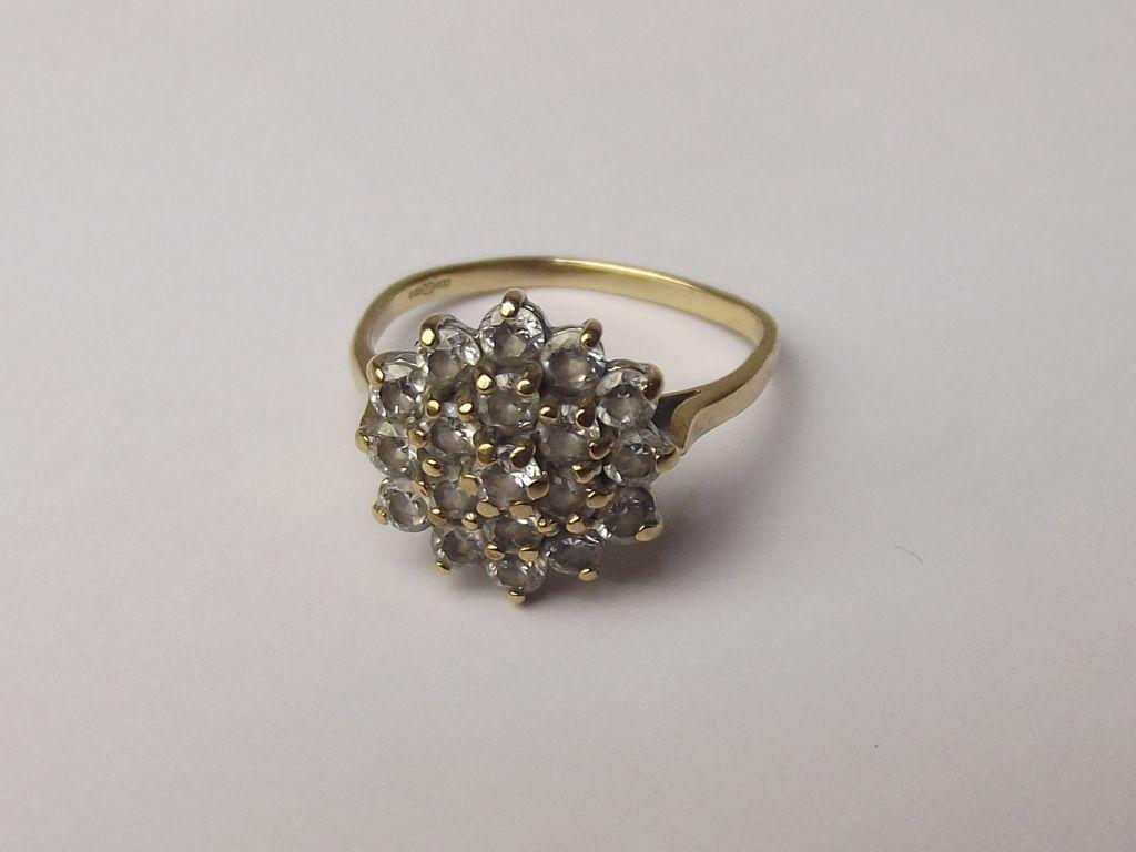 9ct gold zirconia cluster ring uk size n us 7 from