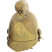 Reading Fire Brigade Merryweather Pattern Brass Helmet #1