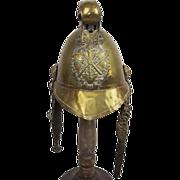 Standard British Merryweather Pattern Brass Fire Brigade Helm