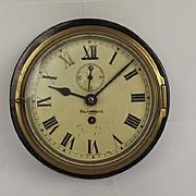 Ships Bulkhead Clock Marked East Watch Bombay