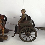 Circa 1920 German Tin Plate & Composite Märklin British WW1 Gun Train