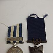 Egypt 1882 & Khedives Star Medal Pair Pte. R.J.W. Boozer 2/R. T.R.R.