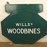 ~ Wills's Woodbines Enamel Advertisement Sign #2 ~