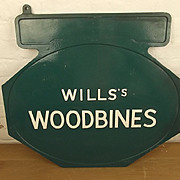 ~ Wills's Woodbines Enamel Advertisement Sign #1 ~