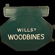 ~ Wills's Woodbines Enamel Advertisement Sign #1 ~