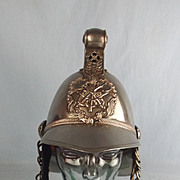 British Officers Merryweather Pattern Fire Helmet In Nickel Silver