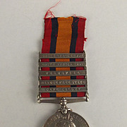 5 Clasp Boer War Queens South Africa Medal Pte. W.Gaiger 18th Hussars