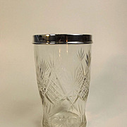 A George V Silver Mounted Cut Glass Flower Vase London 1927