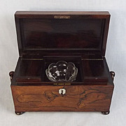 19th Century Rosewood Tea Caddy