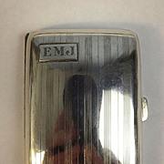 Birmingham 1928 Art Deco Style Silver Cigarette Case