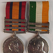 Boer War QSA & KSA Medal Pair Pte. Porter Lincoln Regiment