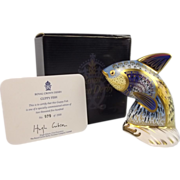 Boxed Royal Crown Derby Guppy Fish Paperweight