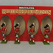 1982 Britains Toy Soldiers 7238 Set of The Scots Guards
