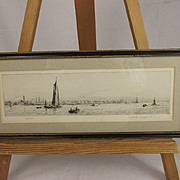 Gosport – Original Drypoint Etching By Rowland Langmaid