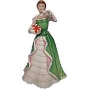 "Royal Doulton Figurine ""Merry Christmas"" #HN3096"