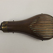 19th Century I.R. Cutts Copper & Brass Powder Flask