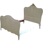 French Late 19th Century Walnut Rococo Style Double Bed