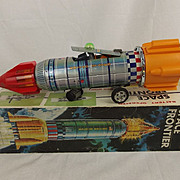 1960's Yoshino Toys KY Japan Battery Operated Space Frontier Tin Plate Toy