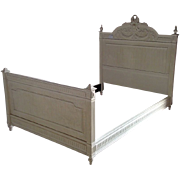 French Late 19th Century Walnut Louis XVI Style Double Bed