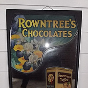 Original Rowntree's & Cadbury's Advertising Shop Mirror c1922