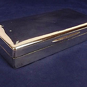 Richard Hale School Silver Cigarette Case London 1927