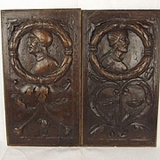 Pair Of 16th Century Continental Carved Oak Panels