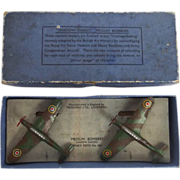 Boxed Dinky No. 60s Shadow-Shaded Fairey Battle Bombers Presentation Set
