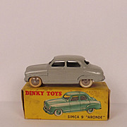 Boxed French Dinky Toys No. 24U Simca 9 Aronde