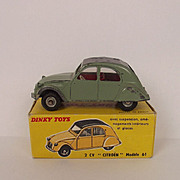 Boxed French Dinky Toys No. 558 2 CV Citroen Modele 61 1962-1963