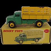 Boxed Dinky No.343 Green & Yellow Farm Produce Wagon 1954-1960