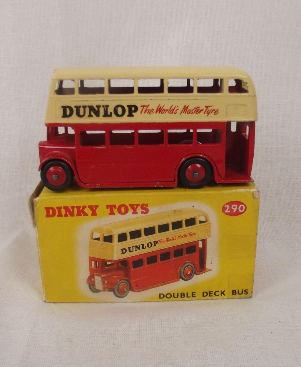boxed dinky toys no 290 double deck bus dunlop 1959. Black Bedroom Furniture Sets. Home Design Ideas