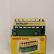 Boxed Dinky Toys No. 290 Double Deck Bus 'Dunlop' 1959-1961