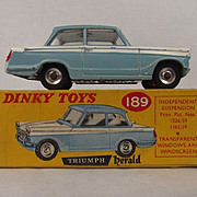 Boxed Dinky 189 - Triumph Herald - Two Tone  Blue/White 1960/64