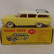 Boxed Dinky Toys No. 193 Rambler Cross Country Station Wagon  1961-1969