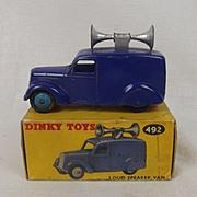 Boxed Dinky Toys No. No. 492 Loud Speaker Van 1954-57