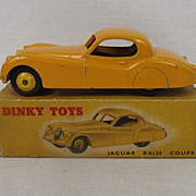Boxed Dinky Toys No.157 Yellow Jaguar XK120 Coupe 1954-1962