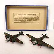 Boxed Dinky Toys 62B Shadow Shaded Blenheims 1937-1940 In No. 60s Box