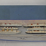 Boxed Dinky Pre-war Set No. 51 Famous Liners 1934-1940