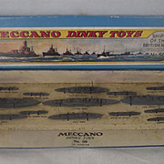 Boxed (Copy Lid) Dinky Pre-war Set No. 50 Ships of the British Navy 1934-42 #1