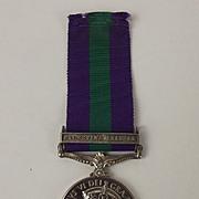General Service Medal - Palestine 1945–48 Clasp -  Pte J.R.W Lowe R.A.M.C