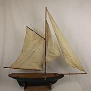 Circa 1950's Wooden Pond Yacht