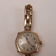 1924 9ct Yellow Gold Ladies Rolex Watch